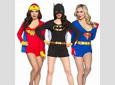 Superheroine Ladies' Caped Rompers