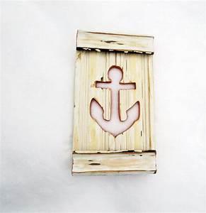 Anchor wall art nautical beach decor reclaimed wood