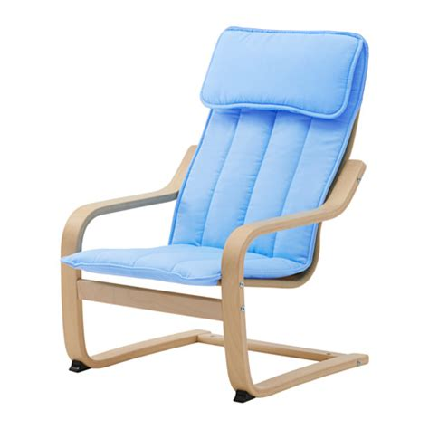 poang chair cushion blue po 196 ng children s armchair birch veneer alm 229 s blue ikea