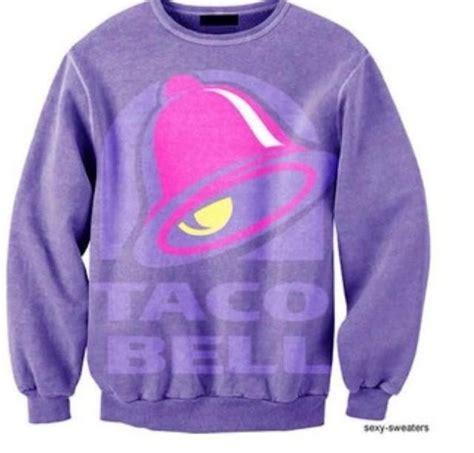 mcdonalds sweater sweater taco bell purple sweatshirt pink warm sweater