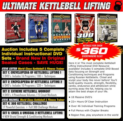 kettlebell steve cotter dvd maxwell sets training