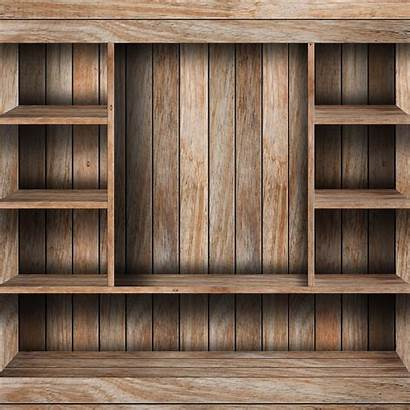 Empty Shelf Wood Wooden Industrial Grunge Organize