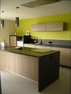 Cuisine bois couleur mur pour cuisine en bois for Couleur mur cuisine bois