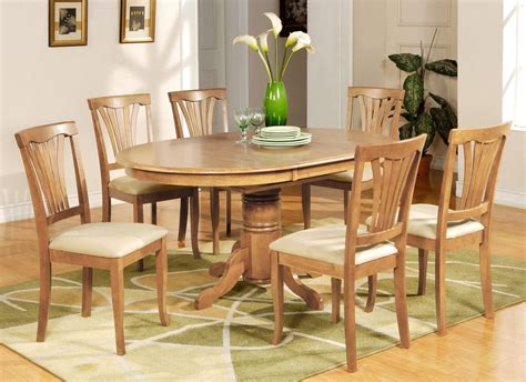light oak kitchen table and chairs 7 pc avon oval dinette kitchen dining table w 6