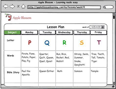 apple blossom home amp preschool curriculum software 167 | lessonplan