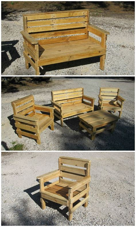 complete garden set    repurposed pallets
