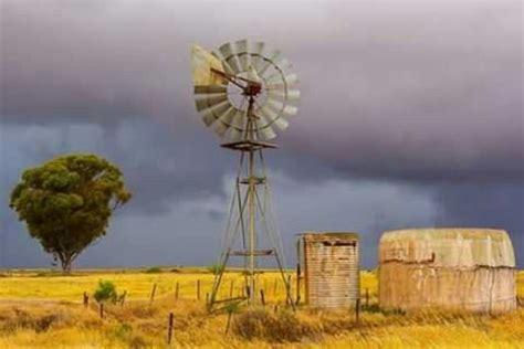 windpomp  windmills south african art yellow art