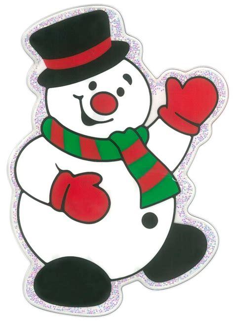 fensterdeko basteln mit kindern magicgel fensterbilder weihnachten winkender schneemann 13 x 16 cm fensterdeko f 252 r das