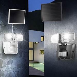 Solarleuchte Mit Bewegungsmelder : led solar wandleuchte mit bewegungsmelder solarleuchte solarstrahler solarlampe ebay ~ Buech-reservation.com Haus und Dekorationen