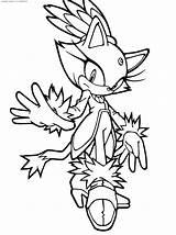 Sonic Coloring Hedgehog Printable sketch template