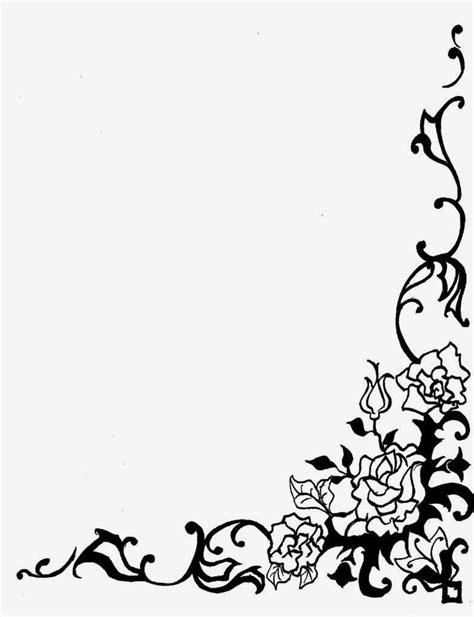 gambar bingkai bunga hitam putih contoh bingkai undangan