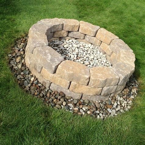 build a pit from cement landscape blocks diy