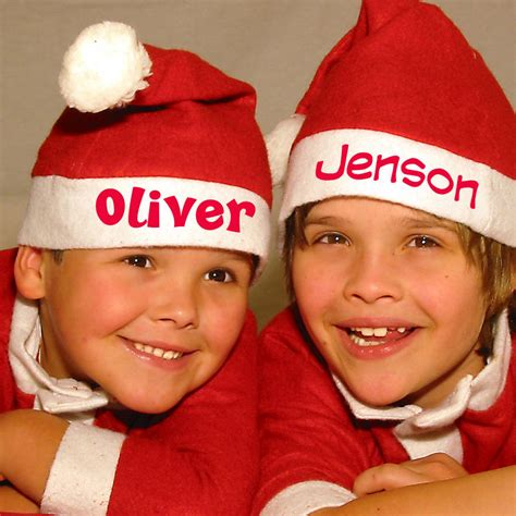 personalised christmas hat by simply colors
