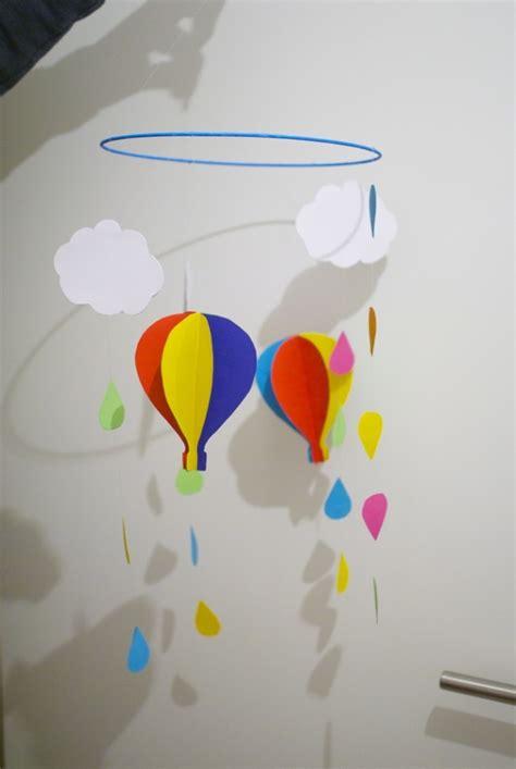 bunter regen und heissluftballons diy ivyat