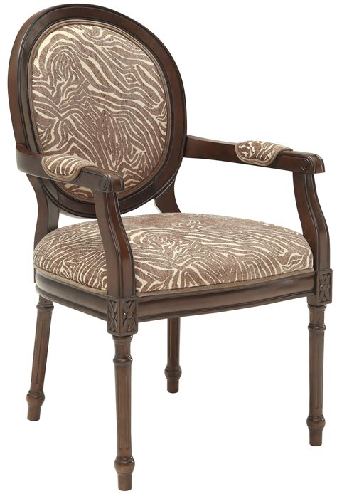 beige brown animal print accent chair from coast to coast