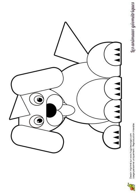 coloriage dun chien  animal rigolo dessine avec des