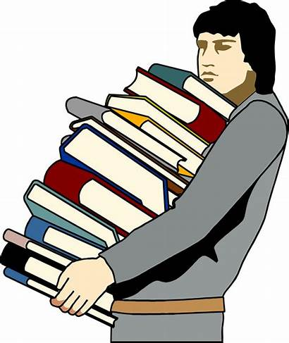 Carrying Books Clipart Carry Lots Stack Student
