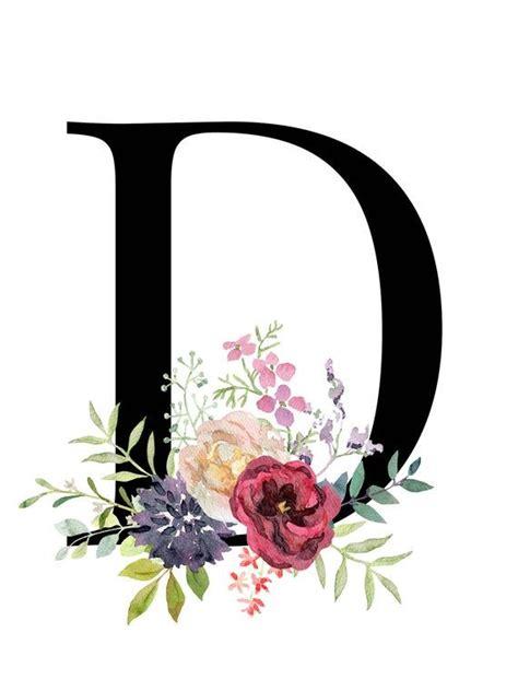 letter  floral alphabet instant digital  etsy monogram printable letters monogram