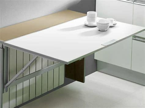 table de cuisine murale rabattable table murale pour une cuisine plus sympa