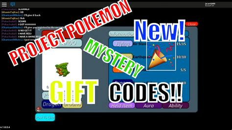 project pokemon  mystery gift codes march
