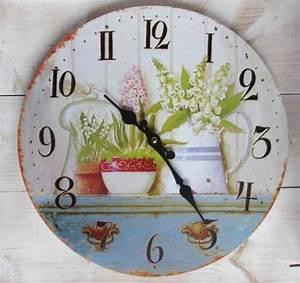 Küchenuhr Vintage : retro wanduhr flowers k chenuhr blumen vintage uhr ~ Pilothousefishingboats.com Haus und Dekorationen