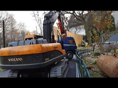 bruder excavator rc volvo ec thumb youtube