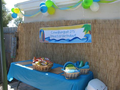 beach themed st birthday party home party ideas