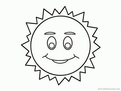 Sun Coloring Pages Drawing Template Printable Moon