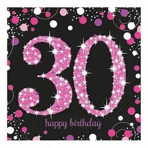 30 Dinge Zum 30 Geburtstag : servietten schwarz pink zum 30 geburtstag happy birthday online kaufen bei andrea verlag ~ Bigdaddyawards.com Haus und Dekorationen