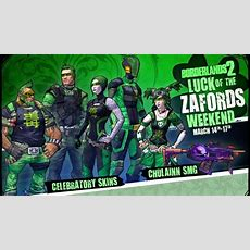 Borderlands 2  Luck Of The Zaford Gearup Weekend Mp1st