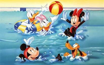 Mickey Mouse Pool Friends Water Playing Swimming
