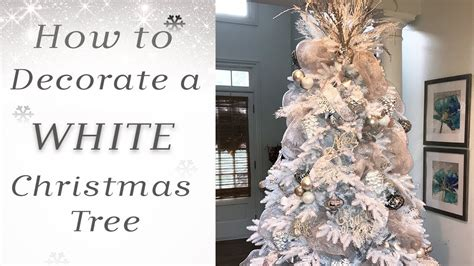 decorate  white christmas tree youtube