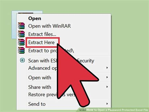 open  password protected excel file  pictures