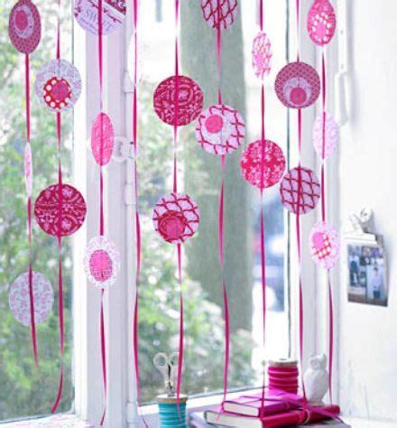 Fensterdeko Weihnachten Girlande by Kreisvorhang Deko Fasching Deko Fenster Karneval Deko