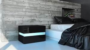 Kommode Schwarz Weiß Hochglanz : nachttisch nachtkonsole kommode flow in wei oder schwarz hochglanz ebay ~ Heinz-duthel.com Haus und Dekorationen