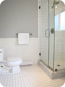 white bathroom floor tile ideas my house of giggles white and grey bathroom renovation makeover marble hex tile etc