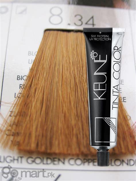 keune tinta color light golden copper blonde  hair