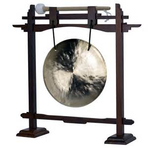 "7"" Wind Gong with Rosewood Pedestal Gong Stand and Mallet ..."