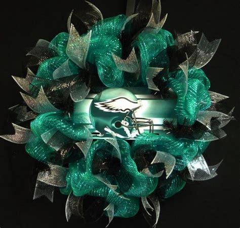 philadelphia eagles wreath poly mesh wreath eagles decor