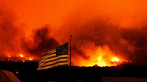 wildfires fueled  weather wind dry underbrush