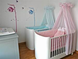 idee deco chambre bebe jumeaux mixte With chambre bebe mixte deco