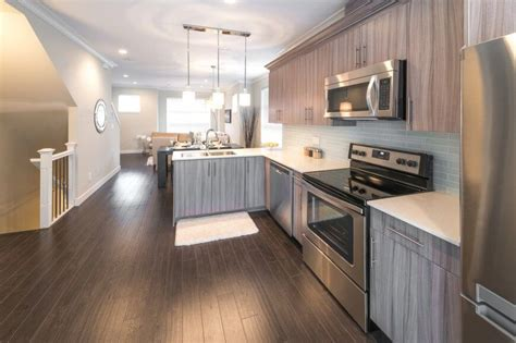 grey kitchen cabinets wood floor 20 clever small island ideas for your kitchen photos