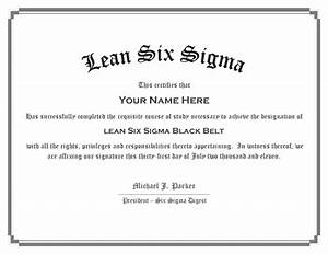 six sigma certification With six sigma black belt certificate template