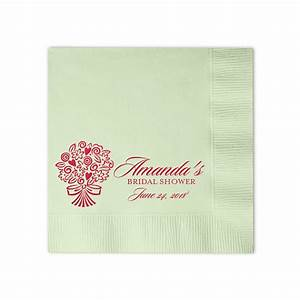 100 personalized napkins beverage luncheon size With wedding shower napkins
