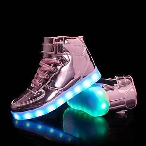 Led Shoes Adults Kids Light Up Trainers Flash Wear Uk