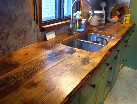 Charming And Classy Wooden Kitchen Countertops  For The