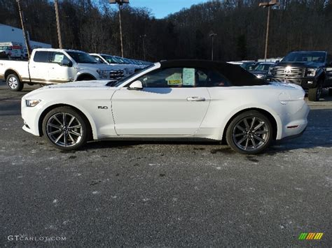 white ford mustang convertible 2016 oxford white ford mustang gt premium convertible