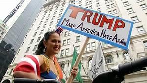 Donald Trump Muslim comments: Protesters denounce ...
