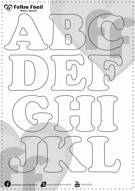 25 melhores ideias de moldes de letras no letras de feltro molde letras e letras