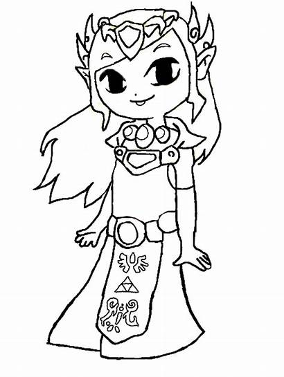 Zelda Coloring Pages Link Legend Colouring Para